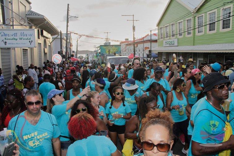 Antigua Carnival: T-shirt Mas is unique to Antigua's Carnival attracting over 18,000 masqueraders annually. Photo Credit: © Antigua Barbuda Festival Commission.