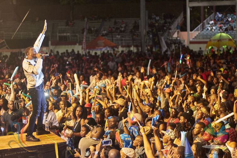 Antigua Carnival: Tian Winter's Winning Performance in the 2018 Party Monarch Competition. Photo Credit: © Antigua Barbuda Festival Commission.