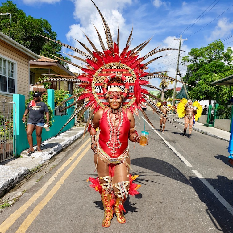 Mara Africa theme costume from Insane Carnival Mas Band for Antigua Carnival.