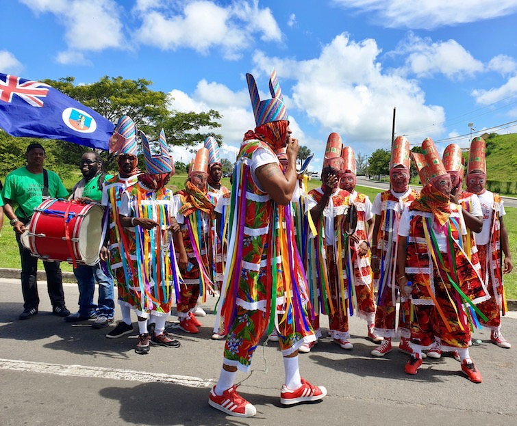 Montserrat masqueraders at Antigua Carnival.
