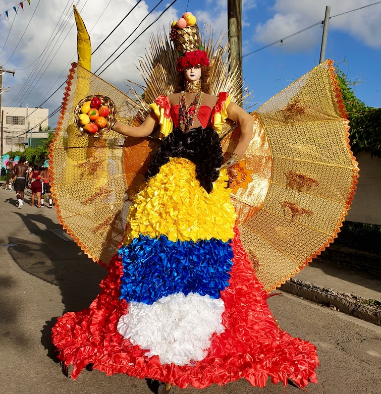 Traditional float at Antigua Carnival.