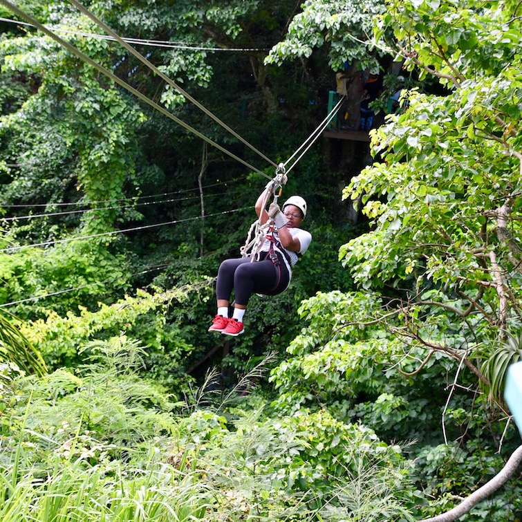 UPB at Antigua Rainforest Zipline Tours.