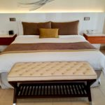 King size bed in Diamond Club room 8401 at Royalton Saint Lucia.