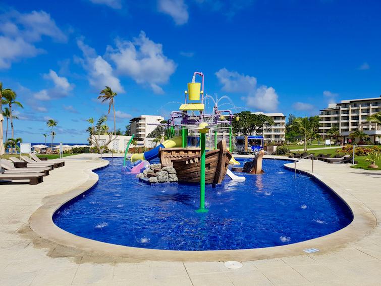 Splash pad pool for children at Royalton Saint Lucia Resort & Spa.
