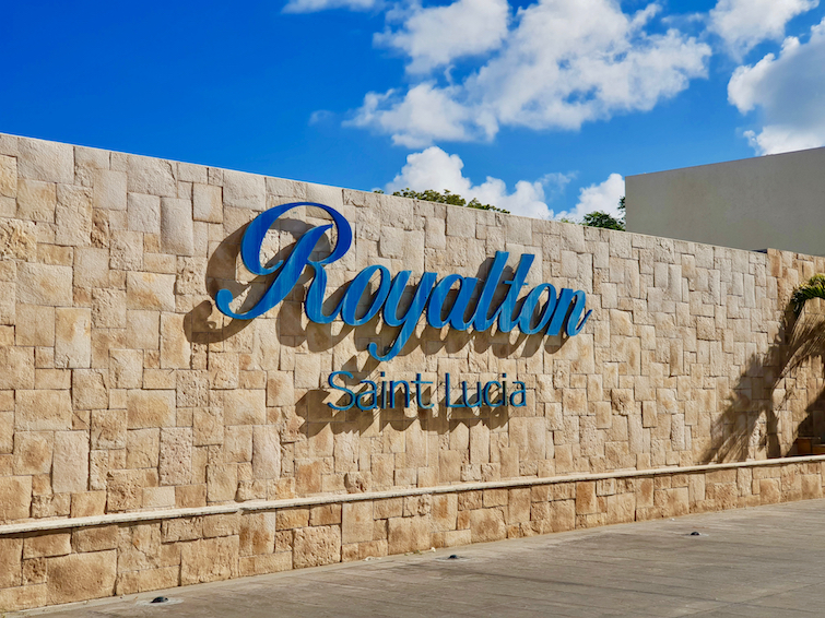 Royalton Saint Lucia Resort & Spa sign.