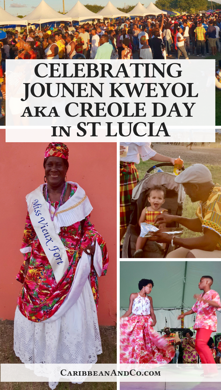 Find out about Jounen Kweyol aka Creole Day in St Lucia which is a celebration of Creole language and culture through food, music, drumming and dancing.