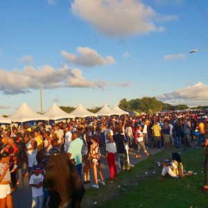 Vieux Fort crowd at Creole Day in St Lucia.