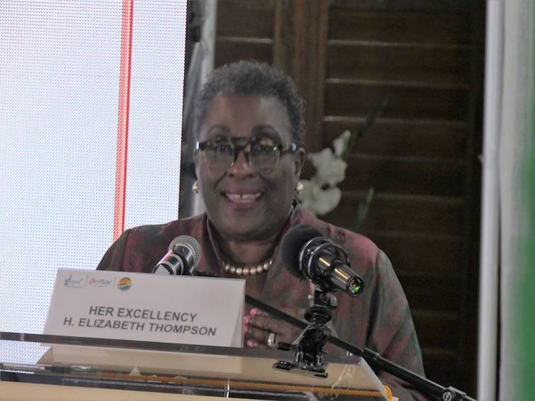 Her Excellency H. Elizabeth Thompson, Barbados Ambassador to the United Nations, keynote speaker at Caribbean Conference on Sustainable Tourism Development 2019.