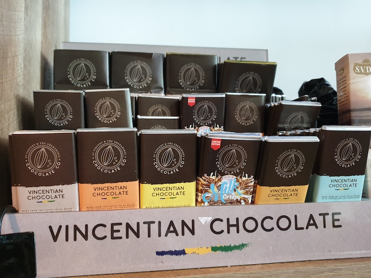 Vincentian Chocolate on sale at Argyle International Airport in Saint Vincent & The Grenadines