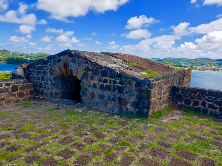 Bunker on Fort Rodney at Pigeon Island National Landmark in St Lucia.