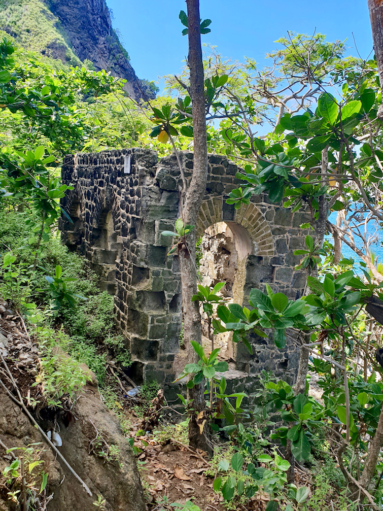 Military Latrine at Pigeon Island National Landmark in St Lucia.