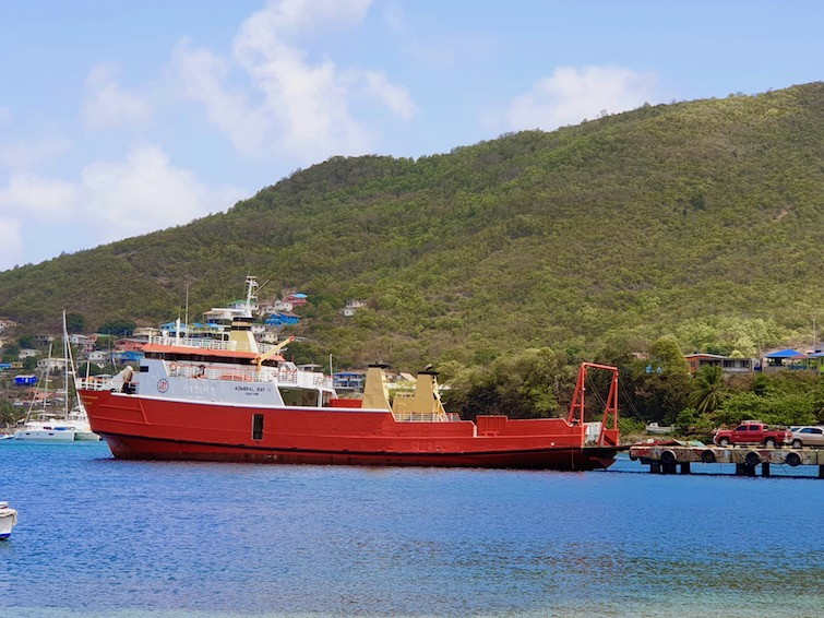 Admiral Bay ferry from St Vincent in Port Elizabeth, Bequia.
