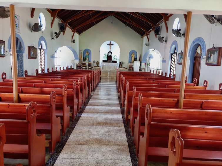 Interior of the Cathedral of the Assumption in Kingstown, St Vincent.
