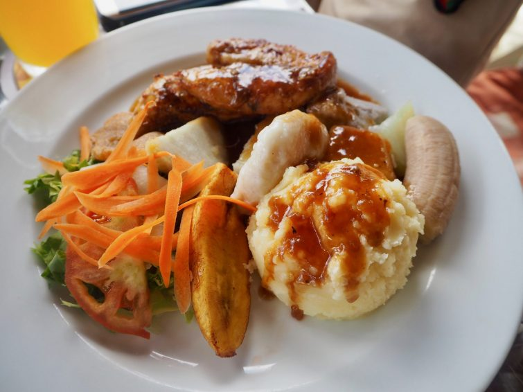 Lunch from El Fredo's Restaurant & Bar in St Kitts.