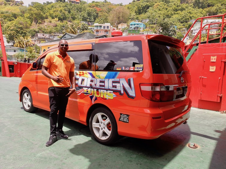 Quency Lewis at Foreign Tours Taxi Service in St Vincent 2.