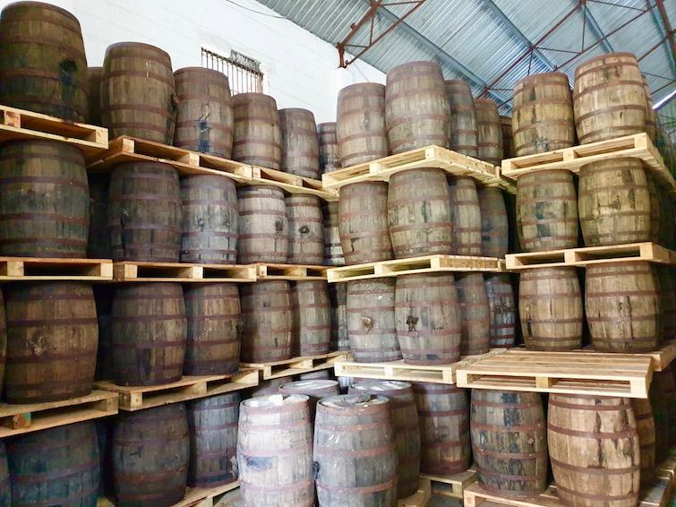 Rum Barrels at St Vincent Distillers Ltd.