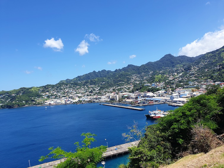 View of the Port of Kingstown in St Vincent.