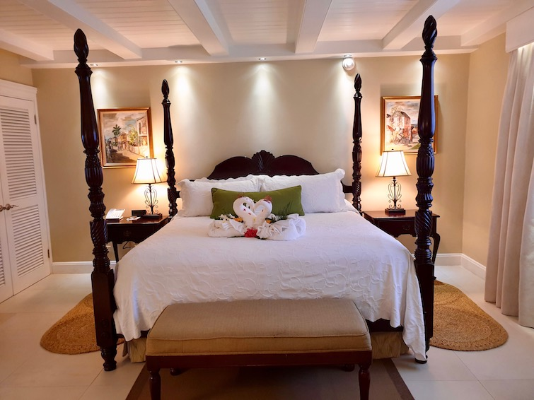 Bedroom in West Cottages 1015, Founders Cove at Half Moon Jamaica.