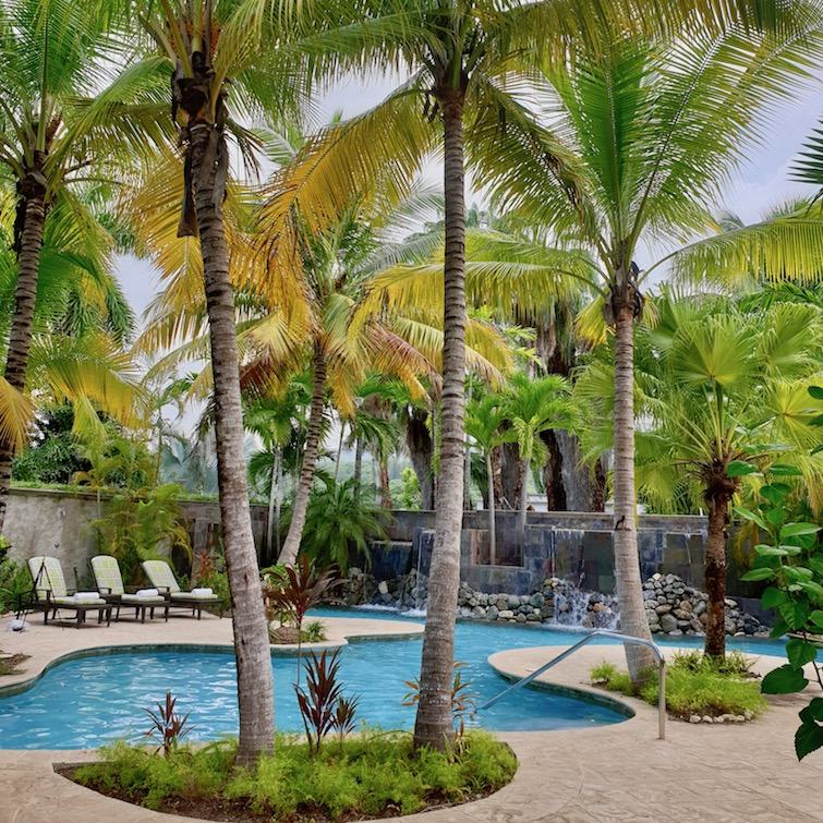 One of the pools at Fern Tree Spa in Half Moon resort in Jamaica.