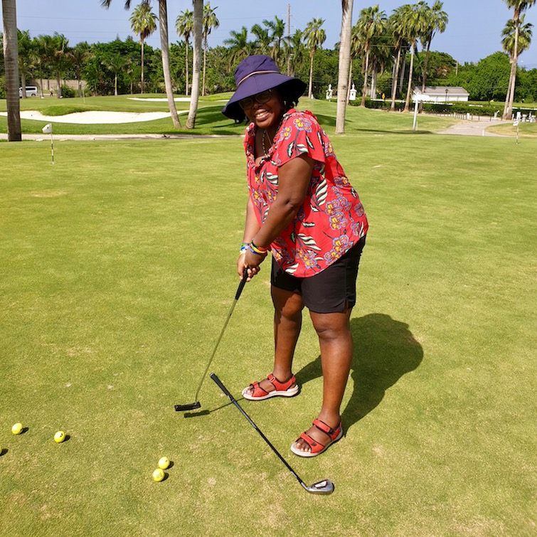 UPB practicing golf techniques at Half Moon Golf Course in Jamaica.
