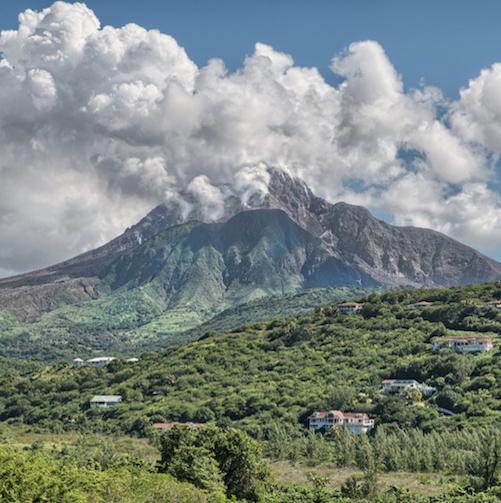 View of Montserrat Soufriere Hill Volcano. Photo Credit: © Ursula Petula Barzey.