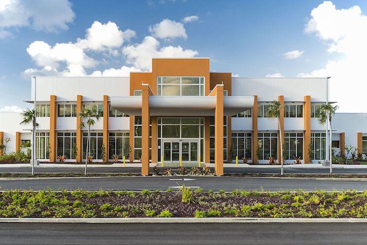 The main entrance to Health City Cayman Islands Hospital. Photo Credit: ©Arousta via Wikimedia Commons.