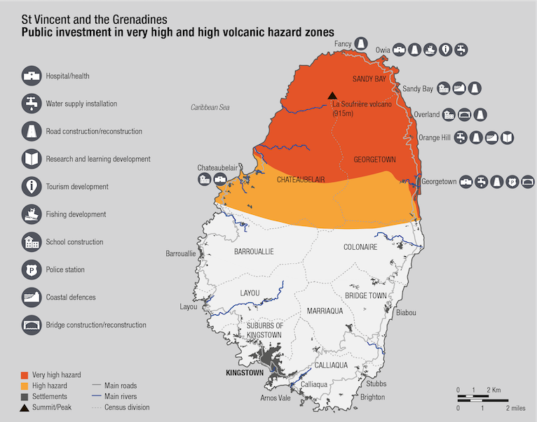 Saint Vincent investment in very high and high volcanic hazard zones. Photo Credit: © ODI.