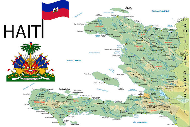 Haiti map. Photo Credit: © Martine Oger via 1234RF.com.