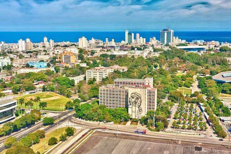 View of Havana on a sunny day with Revolution Square in the foreground. Photo Credit: © Karel Miragaya via 123RF.com.