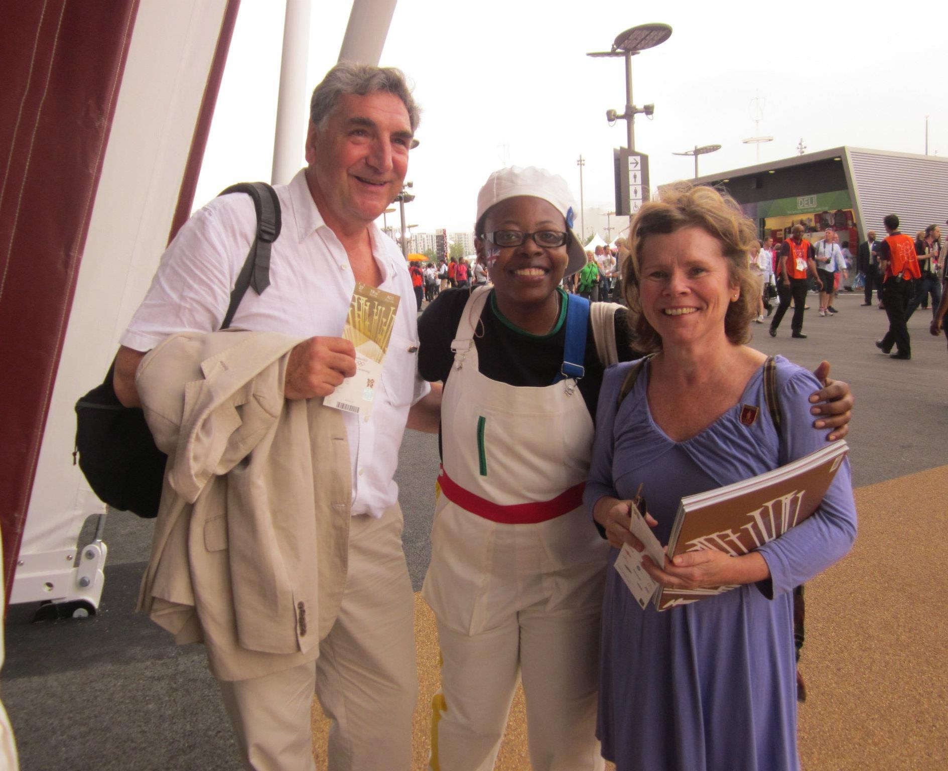 Jim Carter from Downton Abbey & Imelda Stauton from Harry Potter at London 2012. Photo Credit: Ursula Petula Barzey.