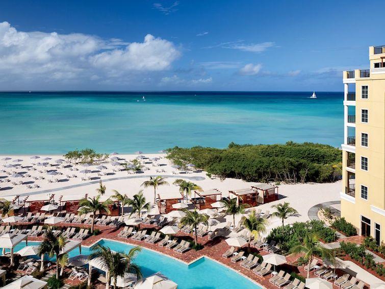 Beach view from the Ritz Carlton Aruba. Photo Credit: © Marriott International.