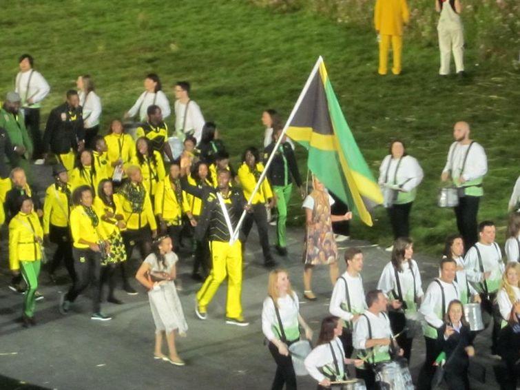 Usain Bolt at London 2012 Olympics Opening Ceremony. Photo Credit: © Ursula Petula Barzey.