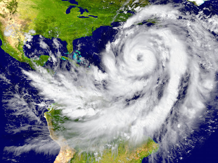 Enormous hurricane over the Atlantic. Photo Credit: © harvepino via 123RF.com.